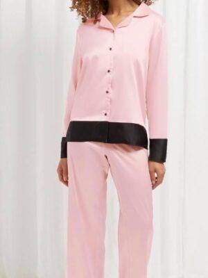 Two Tone Satan feel pajamas