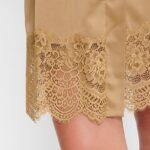 Lace detail gold chemise